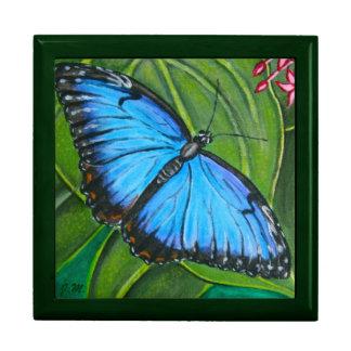 Joyero azul de Morpho Cajas De Recuerdo