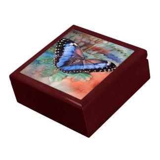 Joyero azul de Morpho Caja De Regalo