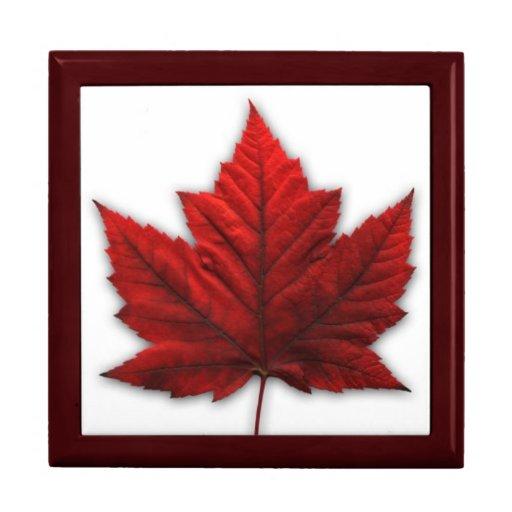 Joyero de Canadá del recuerdo de Canadá de la caja Cajas De Regalo