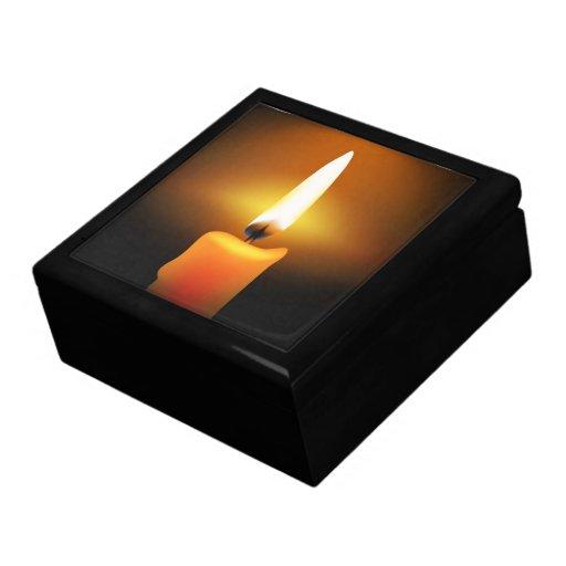 Joyero de la llama de vela caja de recuerdo
