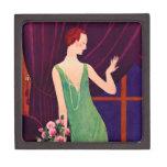joyero de la mujer del art déco de los años 20 cajas de joyas de calidad