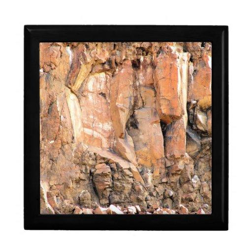 Joyero de la roca sólida cajas de recuerdo