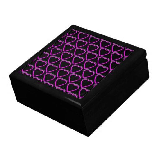 Joyero de los corazones púrpuras caja de regalo