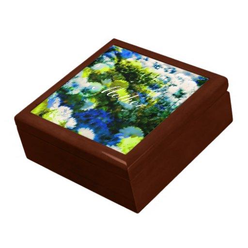 Joyero de madera laqueado fresco del jardín florec