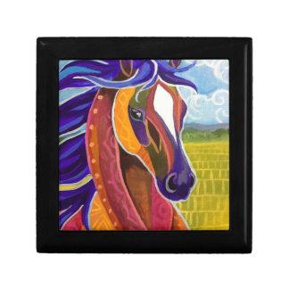 Joyero del caballo salvaje caja de recuerdo