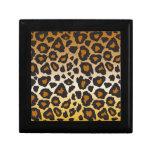 Joyero del estampado leopardo caja de joyas