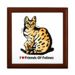 Joyero del gato caja de regalo