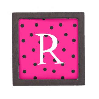 Joyero del monograma de la diversión caja de joyas de calidad
