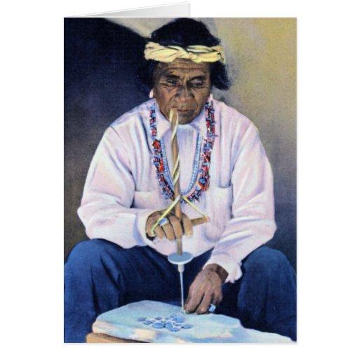 Joyero del nativo americano tarjetas