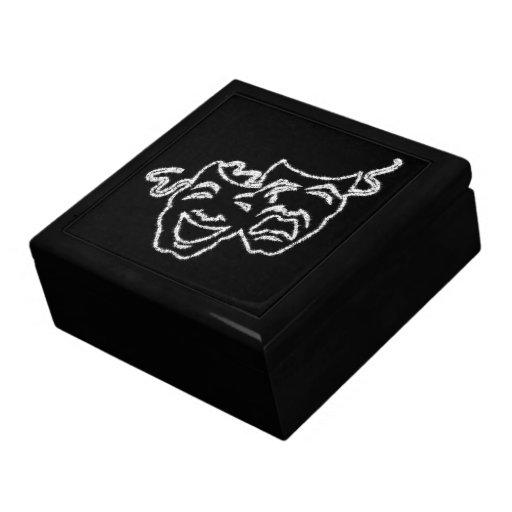 Joyero del regalo del diseño de las máscaras del t cajas de joyas