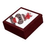 Joyero del regalo del diseño del mono del calcetín cajas de joyas