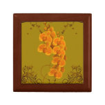 Joyero floral del arte de las orquídeas delicadas cajas de regalo