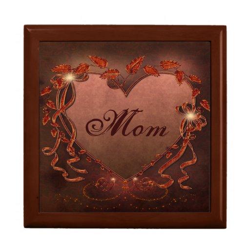 Joyero hermoso de la mamá del corazón de la chispa cajas de joyas
