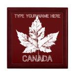 Joyero personalizado de Canadá de la caja de regal Caja De Regalo