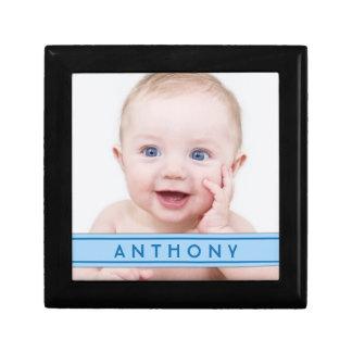Joyero personalizado del nombre de la foto del beb caja de regalo