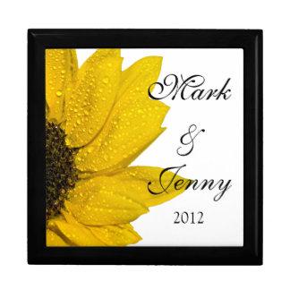 Joyero personalizado girasol amarillo