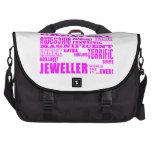 Joyeros de los chicas: Joyero más grande rosado Bolsas Para Ordenador