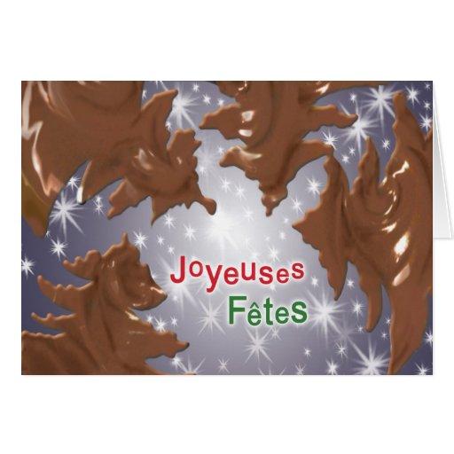 Joyeuse Fêtes en chocolat! Greeting Card