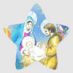Joyeuse Noel, tarjeta de Navidad francesa del Pegatina En Forma De Estrella