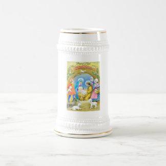 Joyeuse Noel, Vintage French Christmas Card 18 Oz Beer Stein