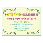 "Joyeuses Pâques 4.5"" X 6.25"" Invitation Card"