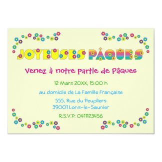 Joyeuses Pâques 4.5x6.25 Paper Invitation Card