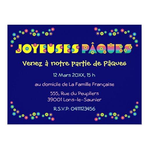 Joyeuses Pâques 6.5x8.75 Paper Invitation Card