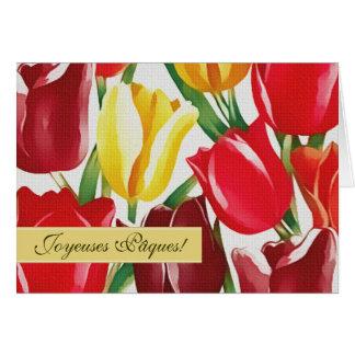 Joyeuses Pâques. Customizable French Easter Card