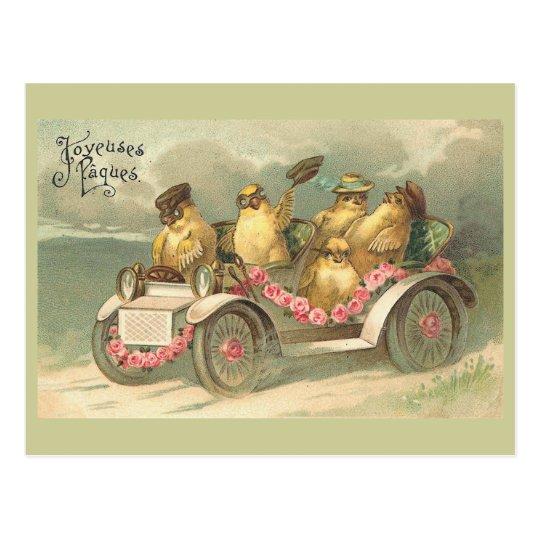 Joyeuses Pâques Cute Vintage Easter Postcard