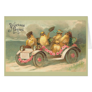 Joyeuses Pâques Cute Vintage Easter Stationery Note Card