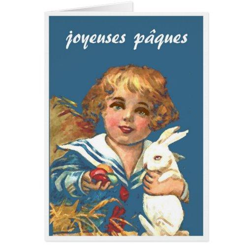 joyeuses pâques greeting card
