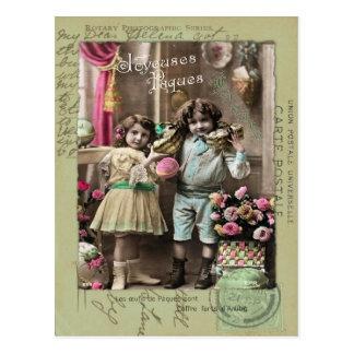 Joyeuses Pâques Pascua Tarjeta Postal