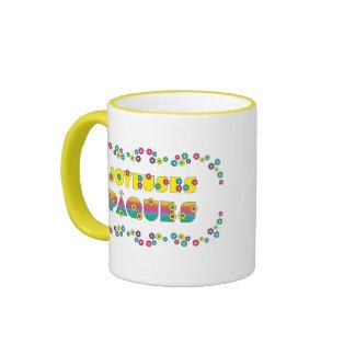 Joyeuses Pâques Ringer Coffee Mug