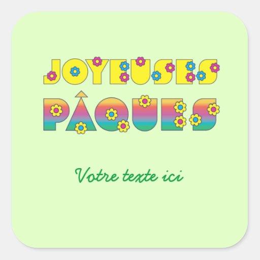 Joyeuses Pâques Square Sticker