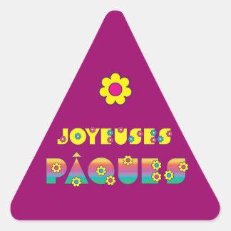Joyeuses Pâques Triangle Stickers