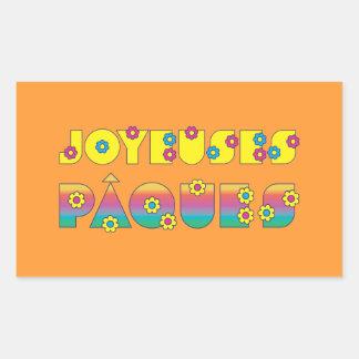 Joyeuses Pâques Rectangular Stickers
