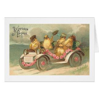 ¡Joyeuses Paques! Tarjeta de pascua del francés de