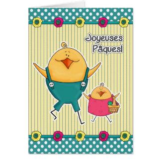 Joyeuses Pâques Tarjetas de pascua adaptables del