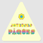 Joyeuses Pâques Triangle Sticker