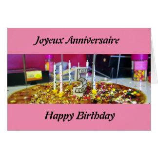 Joyeux anniversaire 5 ans card