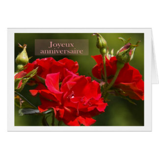 joyeux anniversaire greeting cards