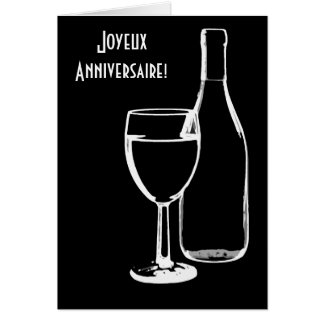 joyeux anniversaire / Happy Birthday French Greeting Card