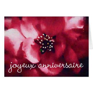 joyeux anniversaire rose greeting card