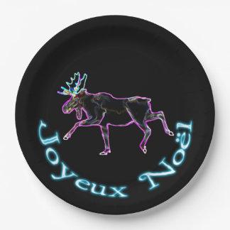 Joyeux Noёl - Electric Moose Paper Plate