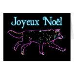Joyeux Noёl - Electric Wolf Greeting Card