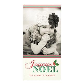 Joyeux Noel (4x8) Personalized Photo Card