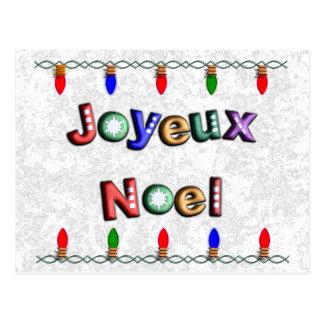 Joyeux Noel Avec Lumieres de Noel Cartes Postales