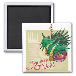 Joyeux Noel Baubles Fridge Magnet