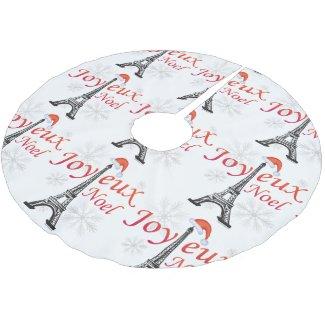 Joyeux Noel Brushed Polyester Tree Skirt