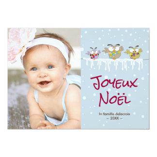 Joyeux Noël carte de photo de vacances Card